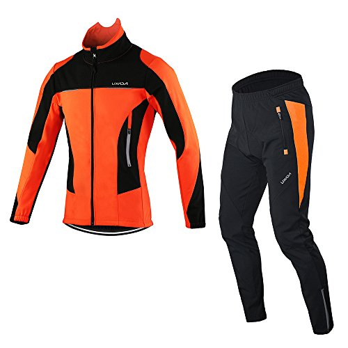 Lixada Herenjas voor wielrennen, ademend, wielrennen, kleding met lange mouwen, waterdicht + fietsbroek (optioneel)