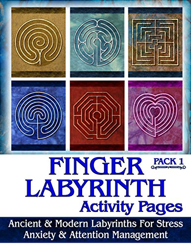 Ravensdaughter Designs Finger Labyrinth Activity Pages Pack 1: Focus Tools for Stress, Anxiety & Attention Management
