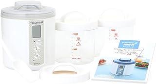 TANICA ヨーグルティアS ガラス容器セット (ホワイト) 温度調節(25~70℃) ・タイマー・ブザー付ヨーグルトメーカー 1200ml YS-01G-W