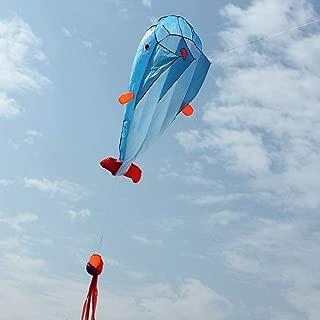 DSA Trade Shop 2m Huge 3D Kite Frameless Soft Parafoil Giant Dolphin Animal Kite Children's Toy
