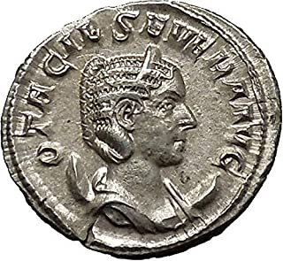 247 IT Otacilia Severa 247AD AR Ancient Roman Coin Conc coin Good
