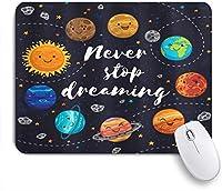 NIESIKKLAマウスパッド 宇宙惑星と言います星団太陽系月彗星太陽コスモスイラスト ゲーミング オフィス最適 高級感 おしゃれ 防水 耐久性が良い 滑り止めゴム底 ゲーミングなど適用 用ノートブックコンピュータマウスマット