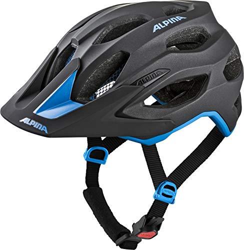 ALPINA Unisex - Erwachsene, CARAPAX 2.0 Fahrradhelm, black-blue, 57-62 cm