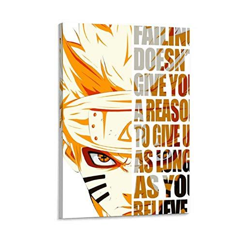 Anime Naruto Quotes Canvas Art Poster