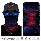 TEFITI Sport-Kopfbedeckung, 3D-UV-Sonnenmaske, Bandana, Sturmhaube, Kopfband für Radfahren, Angeln, Motorradfahren, Laufen, Skateboarden, Jagd, Feuchtigkeitstransport, FS84