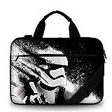 Funky Planet Laptop 15' Sleeve Carry, Canvas Bag pour Les Ordinateurs Portables avec...