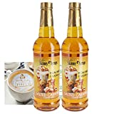 Jordan's Skinny Syrups - 0 Calories and No Sugar - Salted Caramel Coffee Sweetener Syrup Bundle (2...