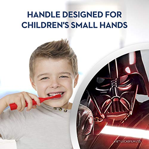 Oral-B Kids Battery Powered Electric Toothbrush Featuring Disney's STAR WARS for Children and Toddlers age 3+, Soft 1ct (Characters May Vary)
