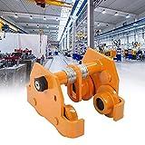 Carro de viga de empuje 2T, carro de viga de empuje duradero Control de calidad estricto de acero resistente para carro de viga de empuje