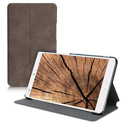 kwmobile Hülle kompatibel mit Huawei MediaPad M3 8.4 - Slim Tablet Cover Kompass Vintage Braun