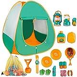 deAO Juego de Supervivencia Camping Infantil Conjunto de Imitación para Niños y Niñas Incluye Tienda de Campaña Pop Up, Farol, Camping Gas y Accesorios Actividad Recreativa Interior y Exterior