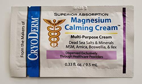 Big Save! Magnesium Calming Cream Travel Packets 0.33oz (6)