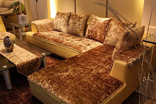 QTQHOME Funda de terciopelo para sofá, antideslizante, para mascotas, niños, cuatro estaciones, universal, forma de L, 70 x 180 cm