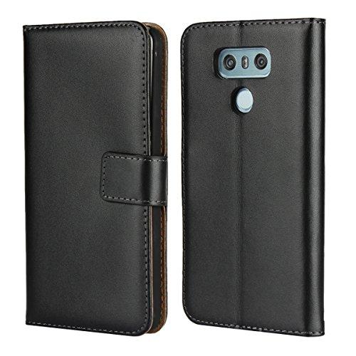 Copmob Custodia LG G6, Portafoglio Custodia di Pelle Case Flip Custodia in Pelle, Supporto Stand e Porta Carte Integrati Flip Cover Stile Libro con Chiusura Magnetica per LG G6- Nero