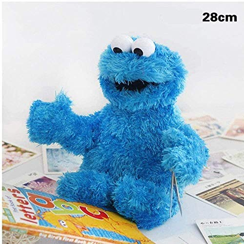 N/D Plush Figures Sesame Street The Muppet Show Plush Toy Sesame Plush Toy Soft Stuffed Doll Sesame Street Plush Elmo Cookie Monster Play Games Doll Toy 28cm/Cookie Monster Size Ornaments