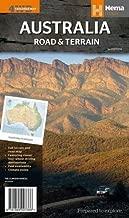 Australia Road and Terrain Map 2014: HEMA