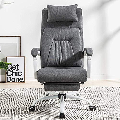 Video Game Chair,Rotating Ergonomic Swivel Office Chair With Adjustable Height Headrest Executive Chairs Home Office Furniture Swivel Office Chair Faux Leather Computer Desk Chair Computer Offi