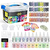 Magicfly Tie Dye Tinte Ropa Kit 179 PCS, Pintura Textil de Tela 20 Colores Permanente No tóxico Arte de Bricolaje Pintada Camiseta Vestir para Niños, Adultos Familia Fiesta, Actividad Escolar
