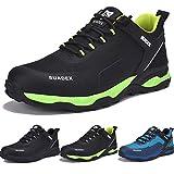 Zapatos de Seguridad Hombre Mujer, Punta de Acero Zapatos Ligero Zapatos de Trabajo Respirable Construcción Zapatos Botas de Seguridad (Oscuro Verde,43EU)