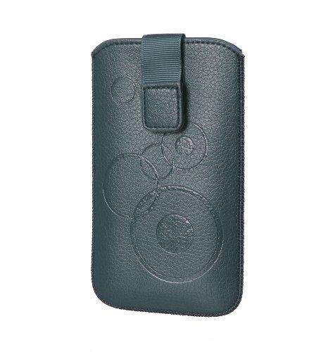 Handytasche Circle für Huawei Ascend G600 / Ascend G615 / Ascend G525 Handy Etui Schutz Hülle Cover Slim Hülle dunkelgrün mit Klettverschluss