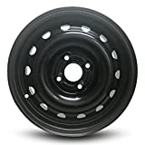 Road Ready Car Wheel For 2003-2005 Saturn Ion 14 Inch Black 4 Lug Steel Rim Fits R14 Tire - Exact OEM Replacement - Full-Size Spare