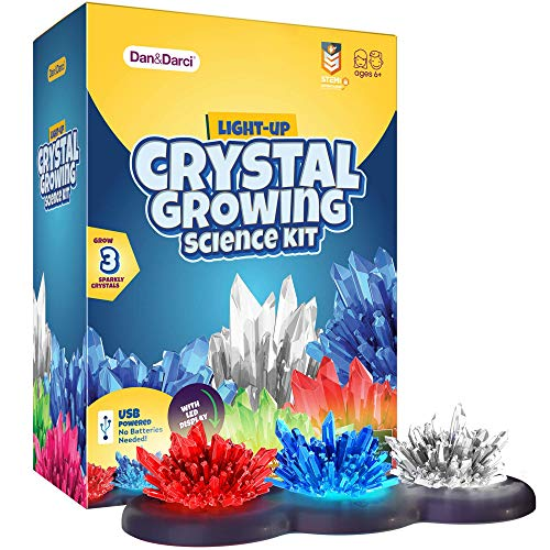 Product Image of the Crystal Growing Kit for Kids + light-up Stand - Science Experiments for Kids -...