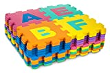 Large foam puzzle for children with letters and numbers, 40 pieces