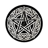 Reloj de Pared Vintage,Nudo Celta Pentagrama Estrella,Relojes de Pared de Madera silenciosos Que no Hacen tictac,Reloj de Pared rústico de Granja para la decoración del Dormitorio de la Sala de Estar