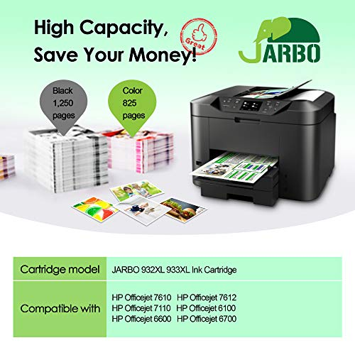 JARBO Reemplazar por HP 932XL 933XL Cartuchos de tinta (4 Negro, 2 ...