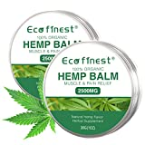 ECO finest Hemp Balm - 2 Pack Moisturizer Balm, Organic Natural Hemp Seed Oil Extract Balm 2500mg Fit for Face, Hands, Feet, Legs, Neck