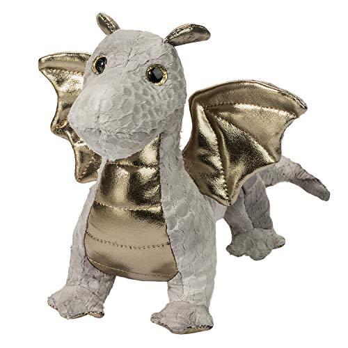 Douglas Hydra Silver Baby Dragon Plush Stuffed Animal