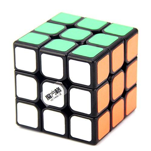 FunnyGoo QiYi Thunderclap 3x3 Magic cube MoFangGe LeiTing Speed Puzzle Cube (Black)