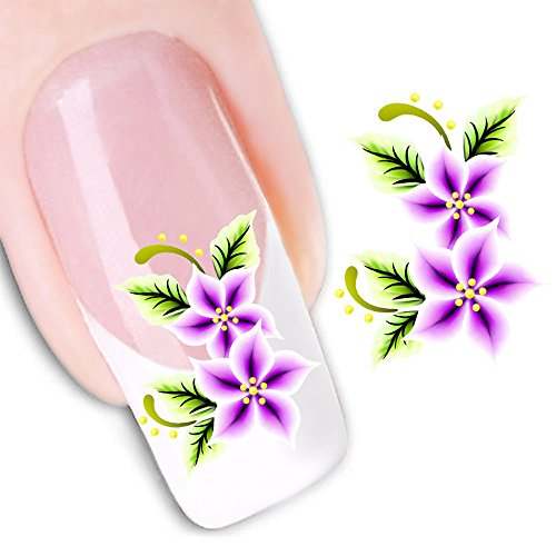 Mode Autocollant Portable Fleur Motif Nail Stickers Nail Art Outil,J