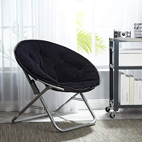 Mainstay Saucer Chair, (1, Black)