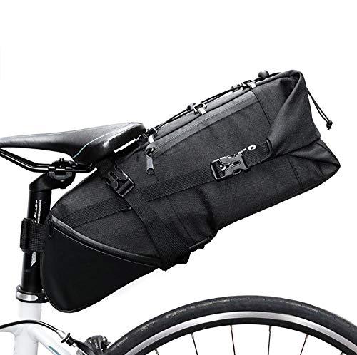 N/C Sacoche de vélo Sacoche de Porte-Bagages arrière de vélo étanche 12L Sports de Plein air Sacs de Cyclisme Sac de Sport Multifonctionnel pour Hommes-Noir Un_10 L