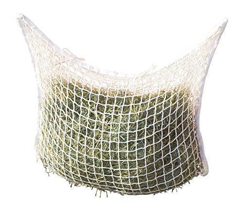BigDean Heunetz 90x60 cm weiß 3x3cm Maschenweite Futternetz Futter Heu Netz Heutasche