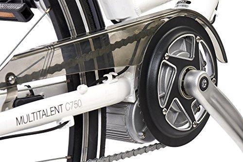 Telefunken E-Bike Elektrofahrrad Alu, weiß, 7 Gang Shimano Nabenschaltung – Pedelec Citybike leicht, Mittelmotor 250W und 10Ah/36V Lithium-Ionen-Akku, Reifengröße: 28 Zoll, Multitalent C750 Bild 4*