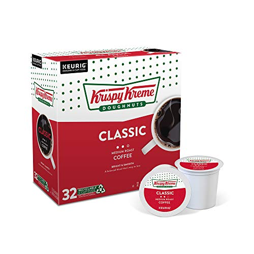 Krispy Kreme Classic, Single-Serve Keurig K-Cup Pods, Medium Roast Coffee, 32 Count