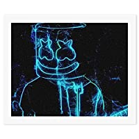 Marshmello10マシュメロ 数字油絵 手塗り DIY絵 大人子供用 油絵 壁掛け 部屋飾り 装飾品 手描き 塗り絵 デジタル油絵 57cm x 47cm 贈り物