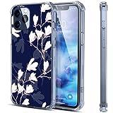 Coque transparente pour iPhone 12 Pro avec motif floral blanc compatible avec 12 Pro - Coque de...