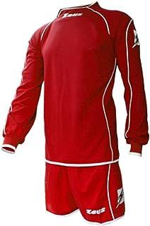 04d9b7422c59e2 Zeus Kit Isef Rosso-Bianco Completino Completo Calcio Uomo Donna Calcetto  Muta Torneo Scuola Sport