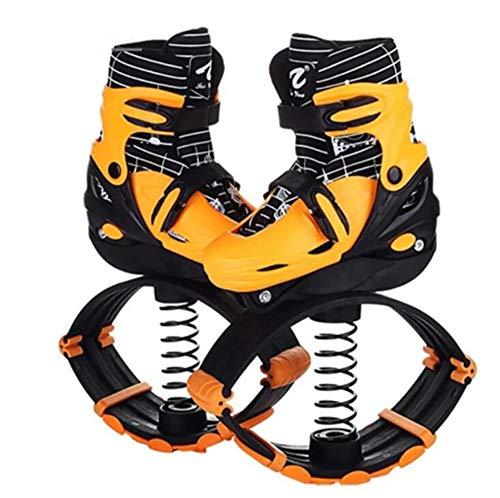 Zapatos de salto para niños, zapato de rebote anti-gravedad Botas para correr Zapatos de salto de zapatos para exteriores Aptitud al aire libre Ejercicio Espacio Bouncing Zapatos,Amarillo,S