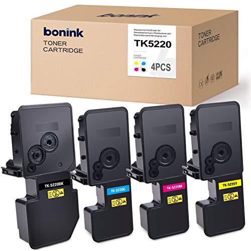 BONINK Compatible para Kyocera TK-5220 TK5220 TK-5230 TK5230 Cartucho de tóner para ECOSYS P5021cdn P5021cdw M5521cdn M5521cdw (Negro Cian Magenta Amarillo)
