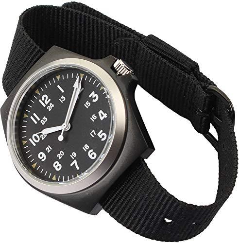 Mil-Tec Reloj De Acero Inoxidable Estilo Ejército De EE UU (Negro)
