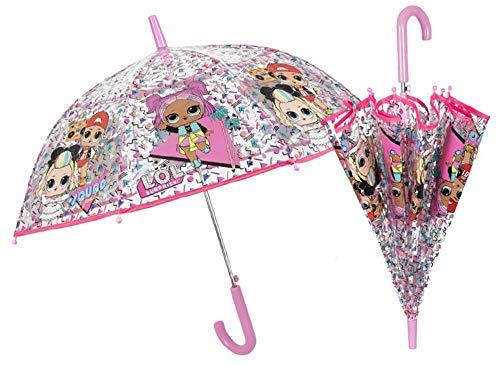 POS 32253 - Stockschirm mit L.O.L. Surprise Motiv, Regenschirm für Mädchen, Durchmesser ca. 74 cm, automatische Öffnung und Fiberglasgestell, idealer Begleiter für regnerische Tage