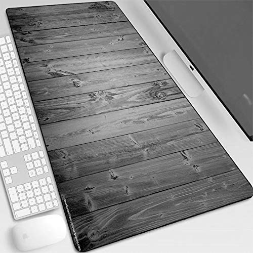 Alfombrilla de ratón de madera negra impresa almohadillas de gamer Gaming Mouse esterillas XL Gamer Personalidad Escritorio antideslizante almohadilla de juego accesorios de computadora imagen