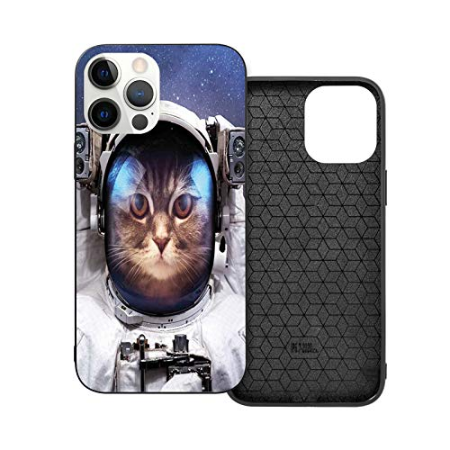 Compatible with iPhone 12 Series Case Milkyway Galaxy Space Traveller Cat in Suit with Stars Backdrop Image for iPhone 12 Mini 5.4inch (2020)
