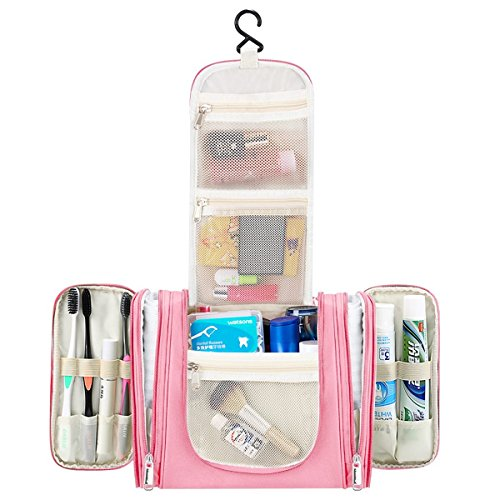 Kulturbeutel FOCHEA Große Kulturtasche zum Aufhängen für Damen, Herren und Kinder, Ideal als Kosmetiktasche, Waschtasche & Waschbeutel für Reisen, Outdoor, Camping