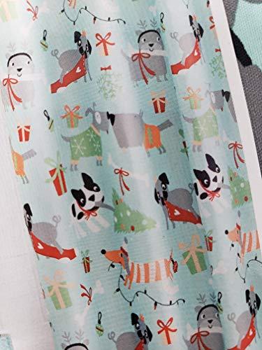Walmart Dachshund Holiday Dog Shower Curtain Fabric with Weener Dog Corgie Pug 70x72 inches