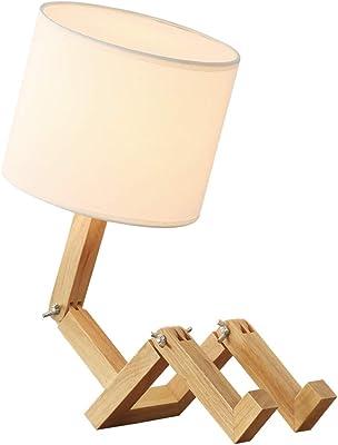 XXYHYQHJD Lámparas de Mesa Personalidad Creativa en Forma de Robot ...